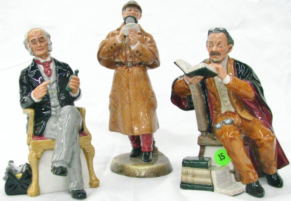 15: Three Royal Doulton Porcelain Figures
