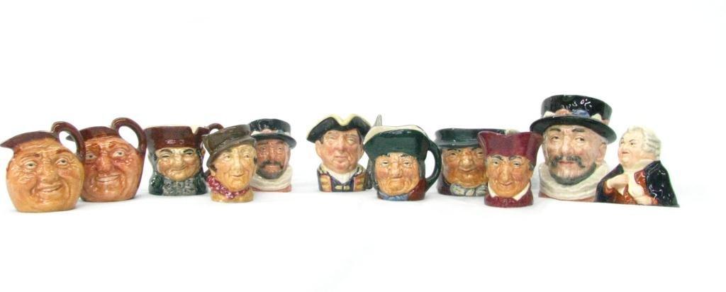 17: Eleven Royal Doulton Porcelain Miniature Tobys