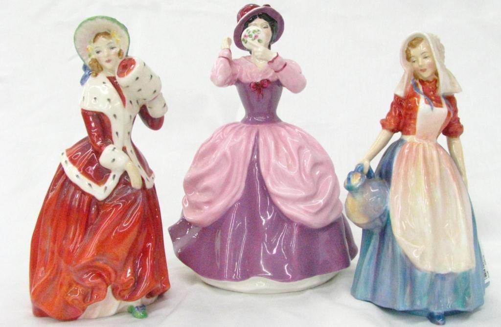 19: Three Royal Doulton Porcelain Figures