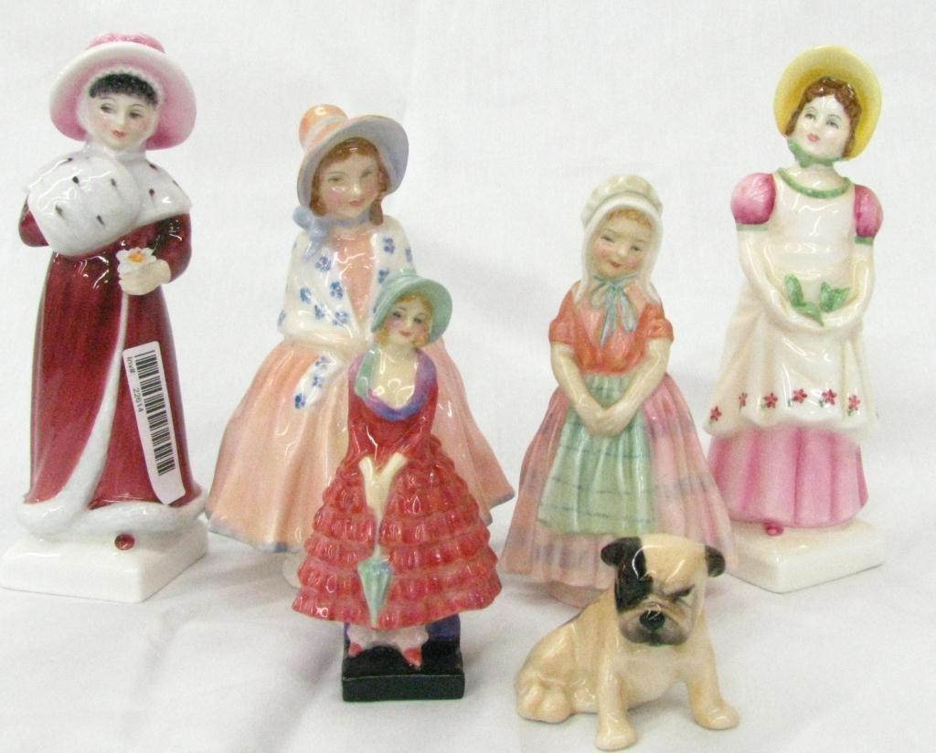 21: Six Royal Doulton Porcelain Figures