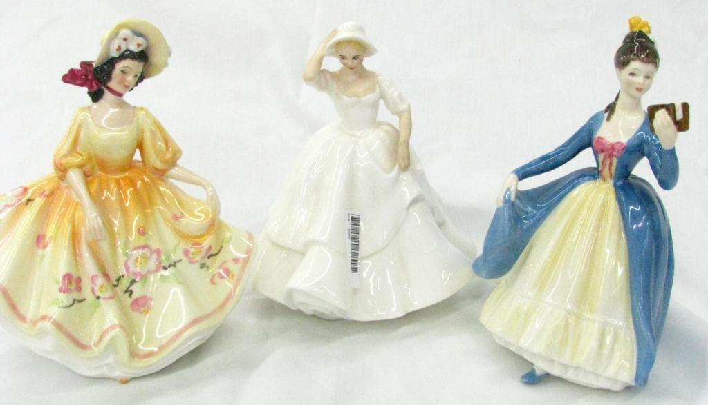 24: Three Royal Doulton Porcelain Figures