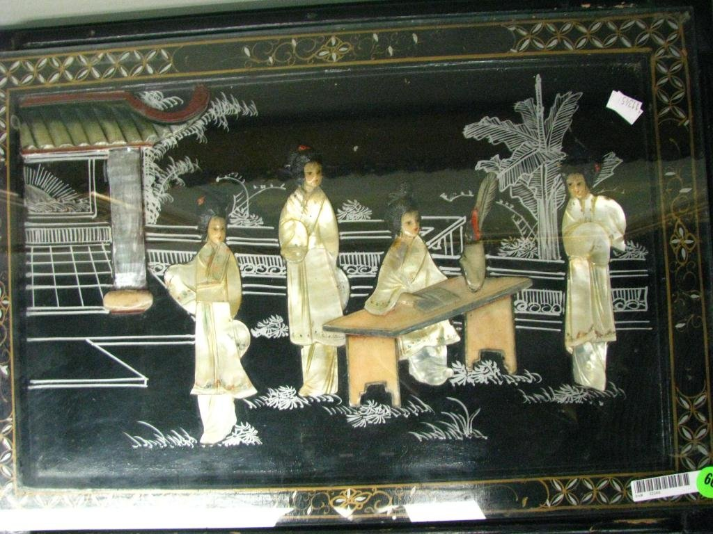 66: Set of Four Black Lacquer Oriental Nesting Tables - 3