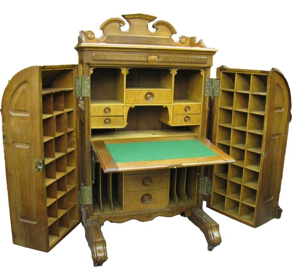 87A: Victorian Walnut Wooton Rotary Desk