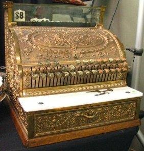 156 Antique Brass National Cash Register 346
