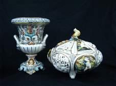 325 Two Items of Capodimonte Porcelain