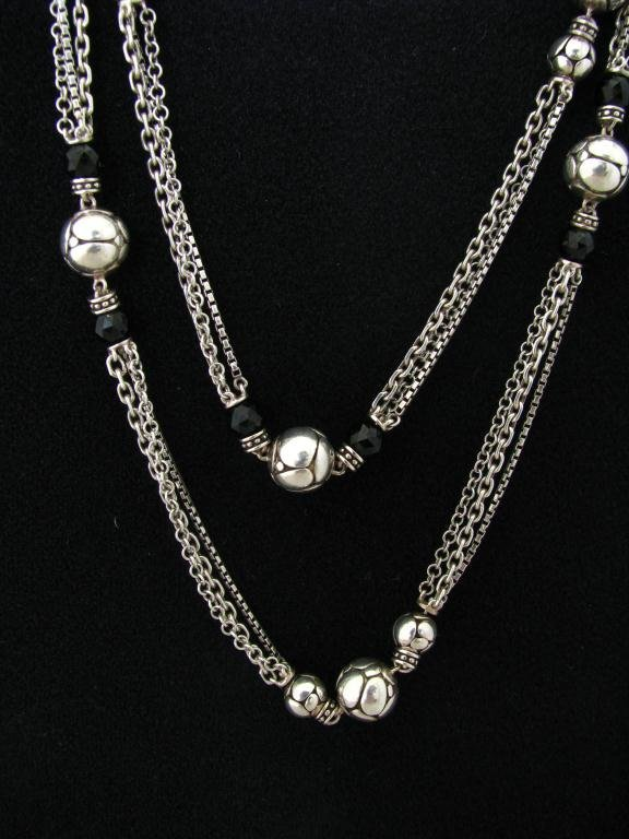 John Hardy Sterling Kali Collection Onyx Necklace
