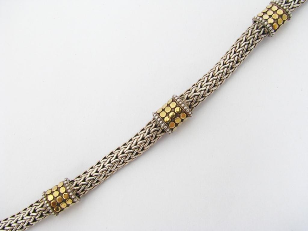 John Hardy Sterling/18K Dot Collection Bracelet