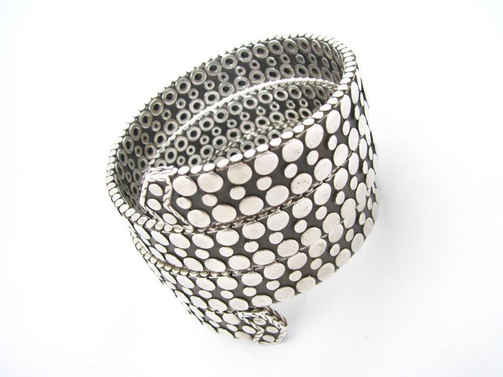 John Hardy Sterling Dot Collection Coil Bracelet