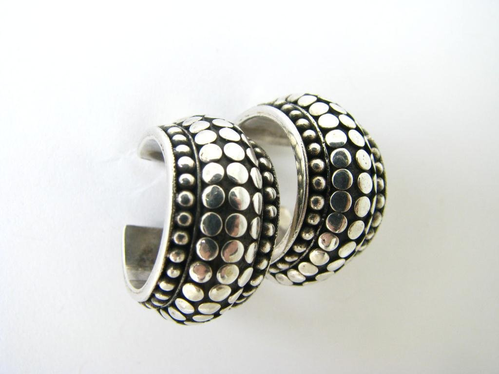 John Hardy Sterling Dot Collection Earrings