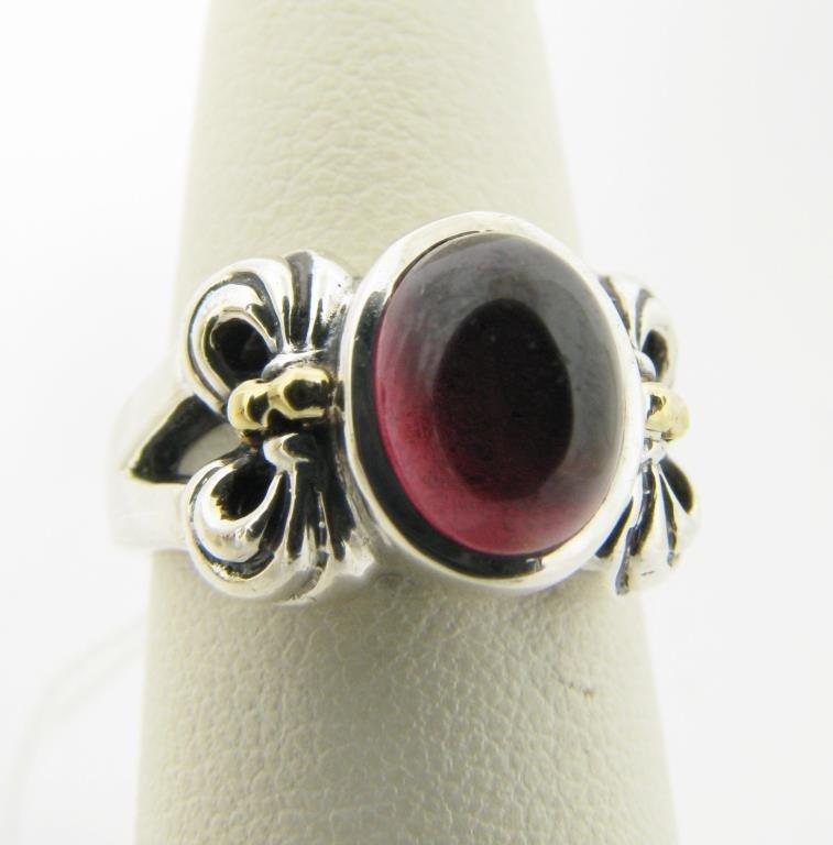 Lagos Sterling, 18K Rhodolite Garnet Ring