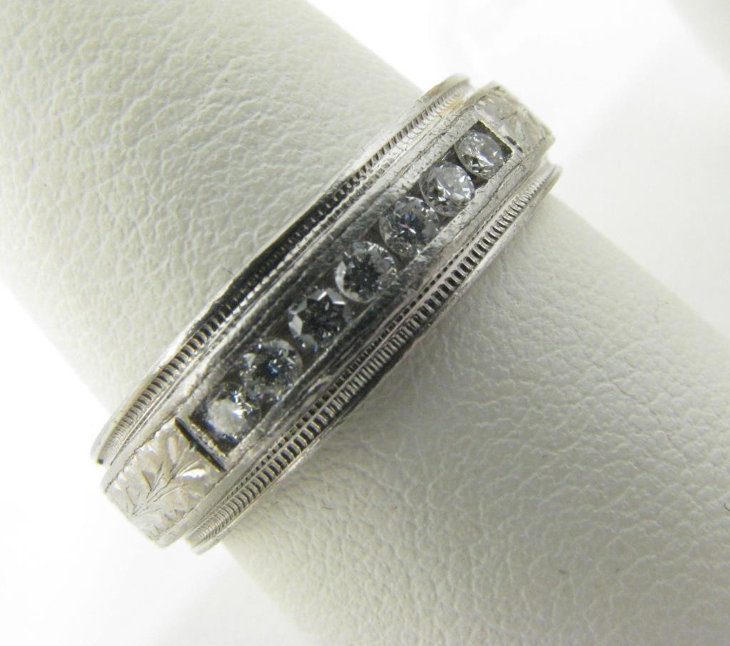 Gentleman's Tacori Platinum Diamond Wedding Band