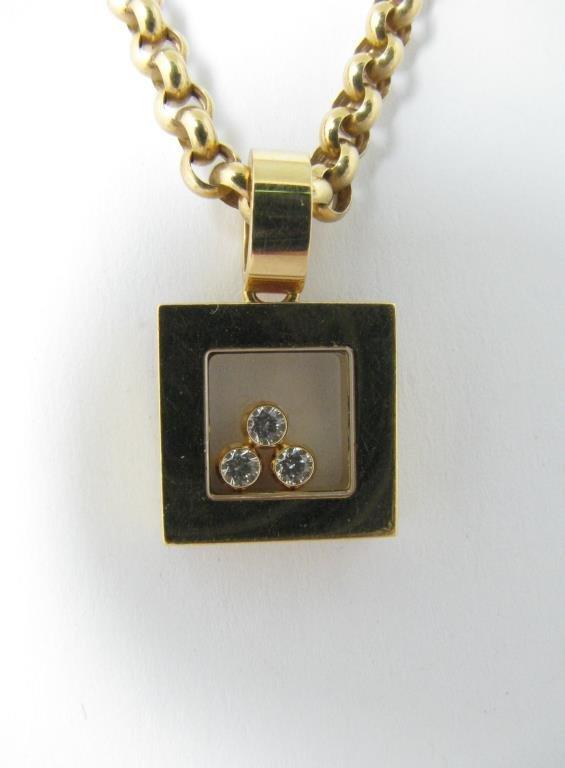 18K Chopard Happy Diamond Pendant and Chain