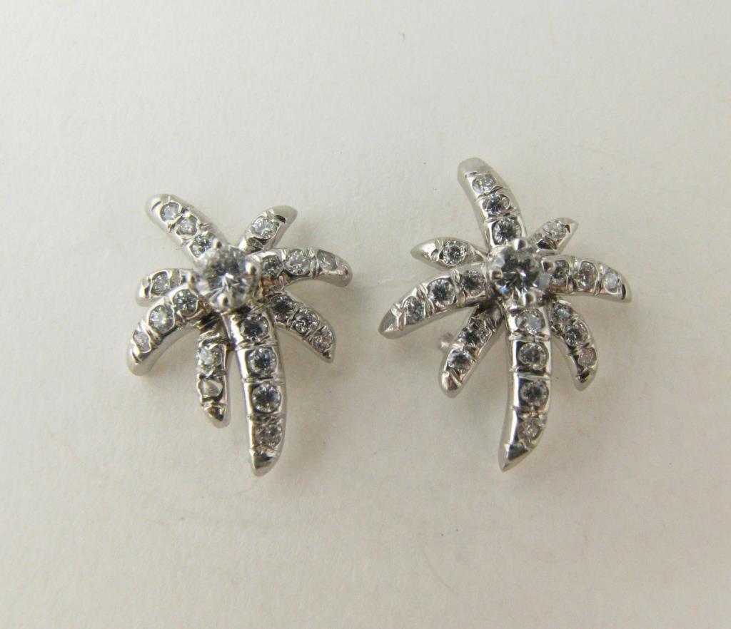 14K White Gold Tiffany & Co. Starburst Earrings
