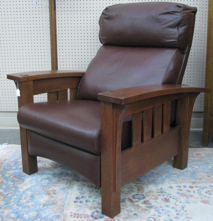 Stickley Furniture Bow Arm Morris Recliner