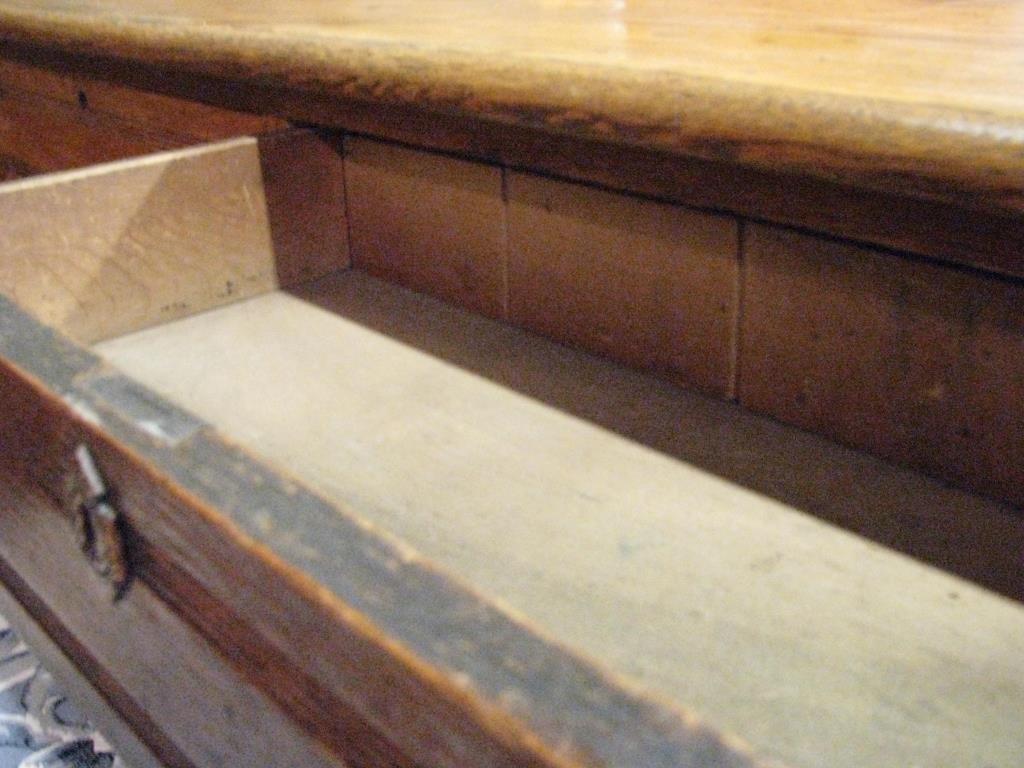 Antique Oak Railroad Agent's Desk - 2