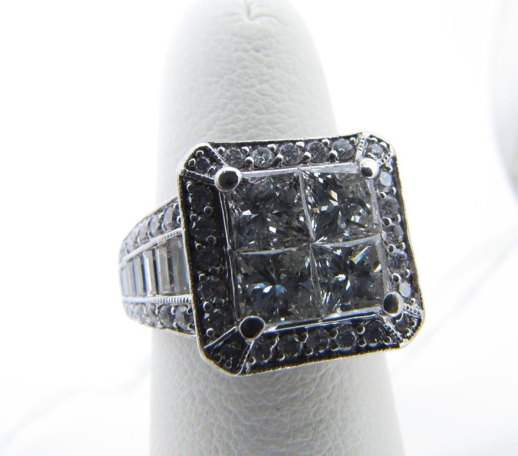 Lady's 14K White Gold Princess Cut Diamond Ring