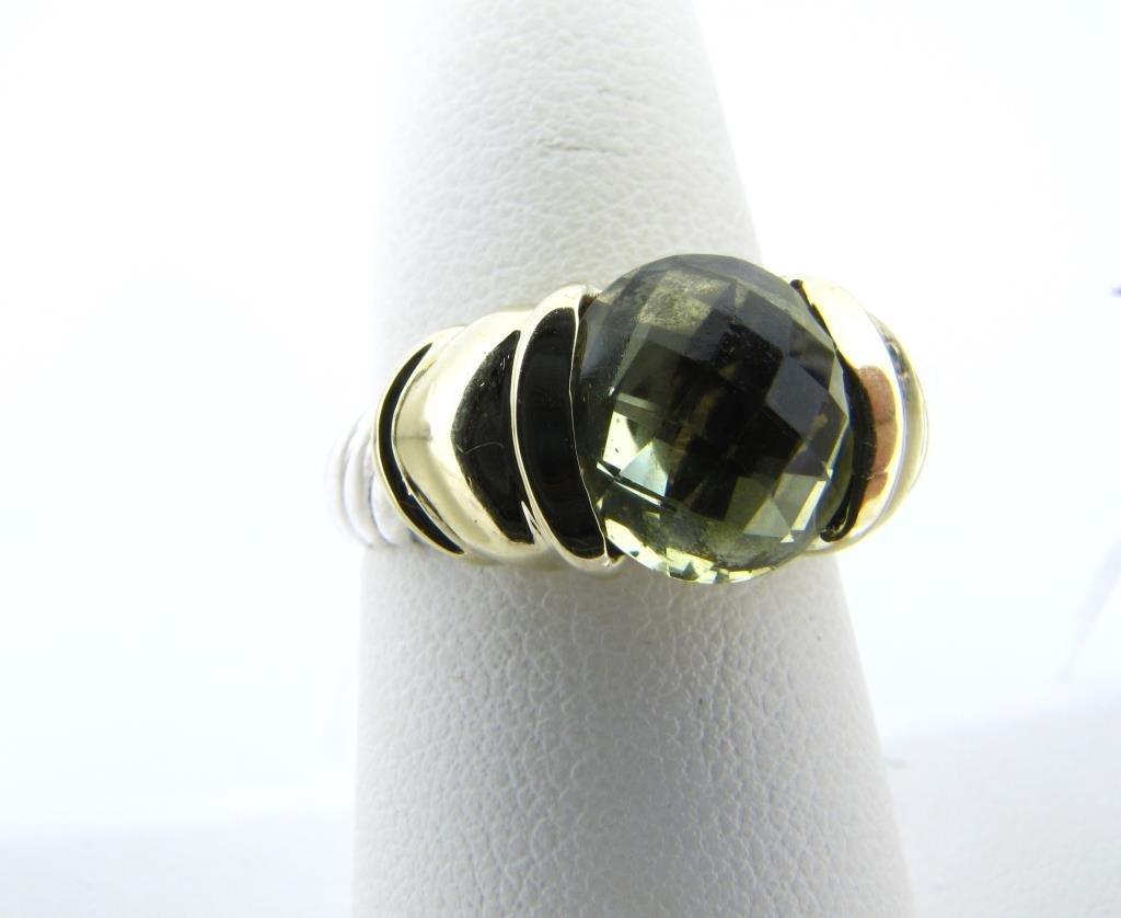 14K Yellow Gold Sterling Yurman Prasiolite Ring