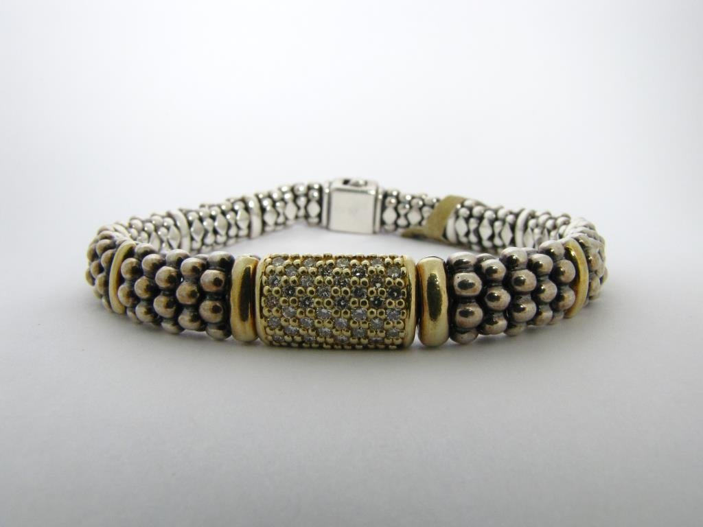 Lagos Sterling and 14K Yellow Gold Bracelet
