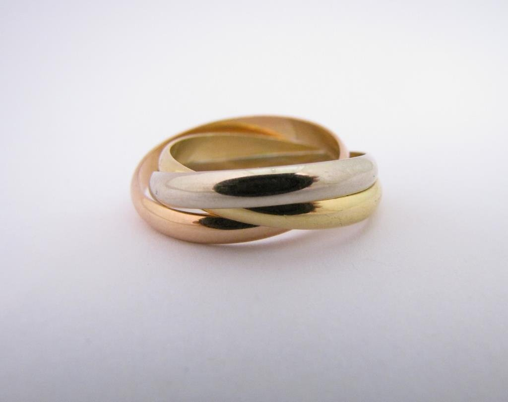 18K White, Rose, Yellow Gold Cartier Trinity Ring