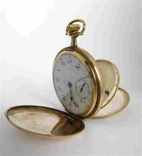 Omega Pocket Watch with Hunter Case
