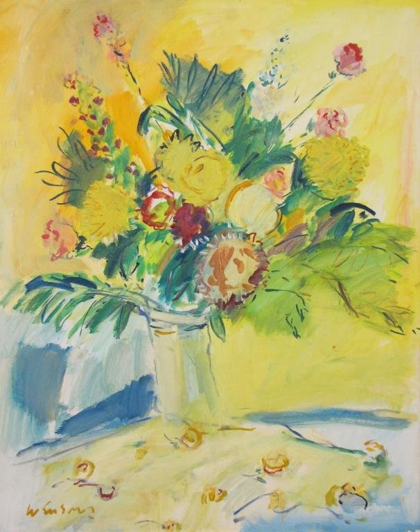 Wayne Ensrud 30x23 O/C Bouquet of Flowers