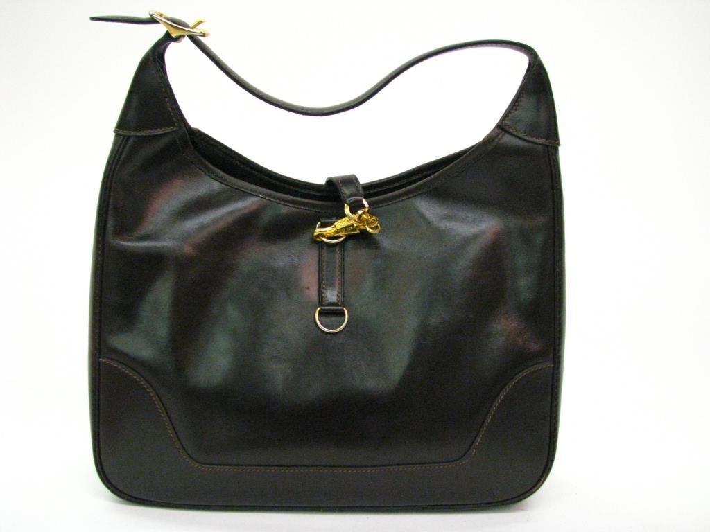 Hermes Vintage Brown Leather Hobo Bag