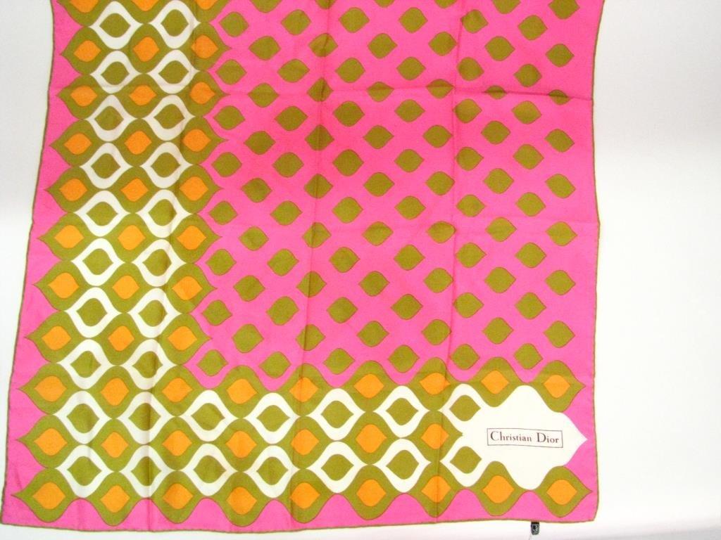 Christian Dior Geometric Design Silk Scarf