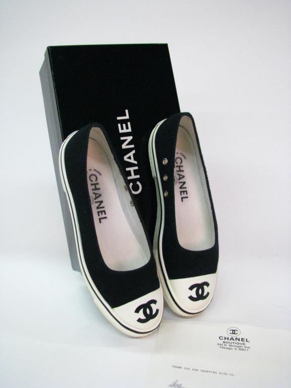 Chanel Vintage Ballet Slipper Style Tennis Shoes