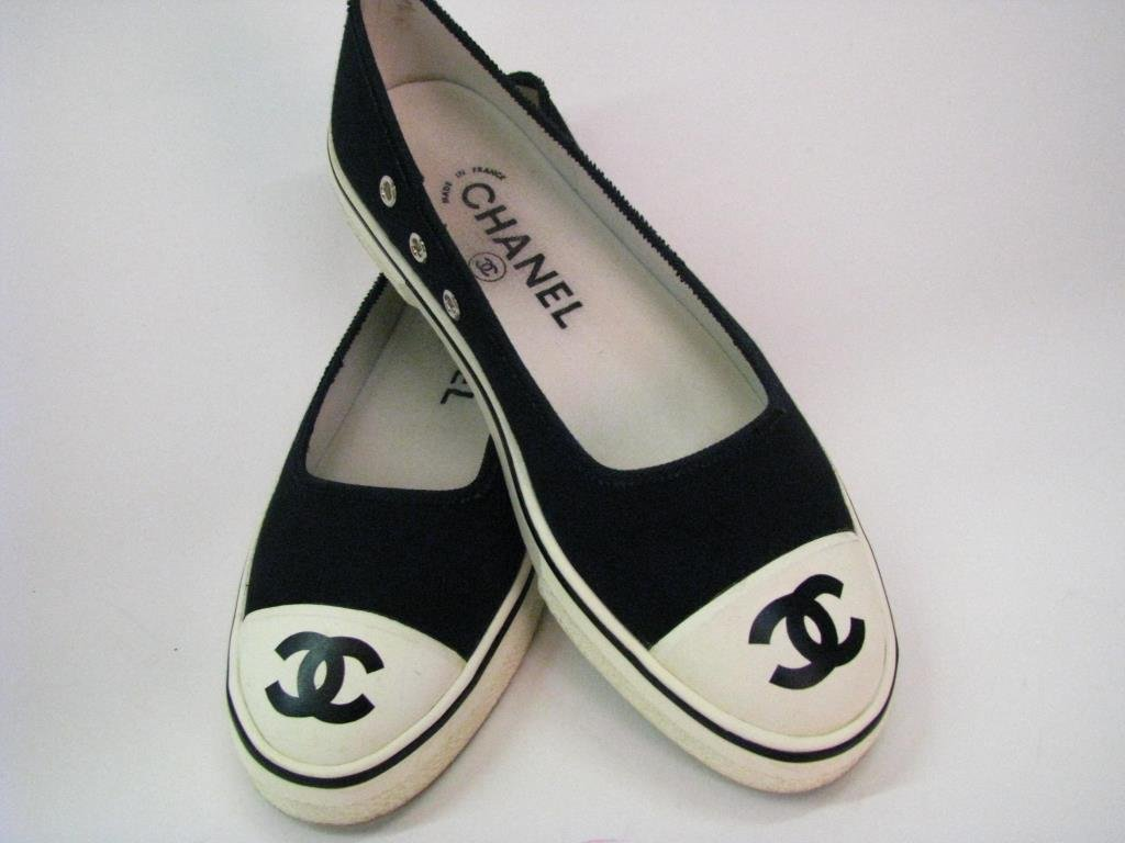Chanel Vintage Ballet Slipper Style Tennis Shoes - 3