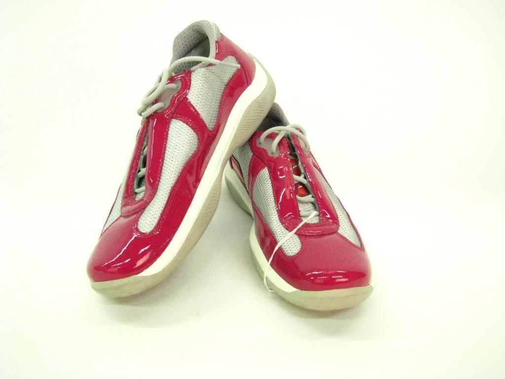 Prada Leather Tennis Shoes