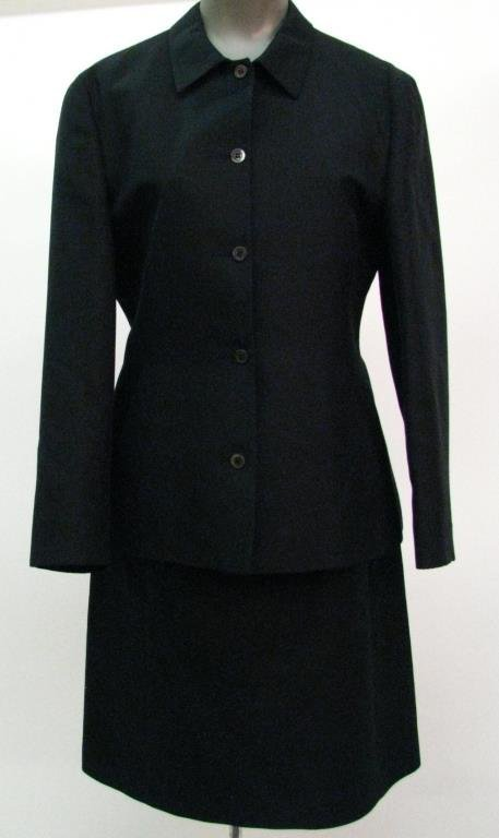 Prada Classic Black Jacket with Skirt