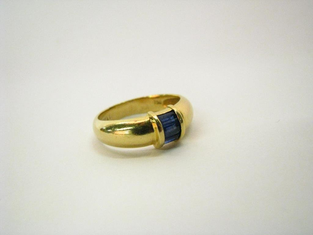Tiffany & Co. 18K Yellow Gold Sapphire Band Ring