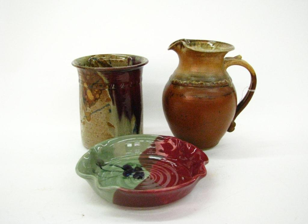Three Artist Signed Art Pottery Items