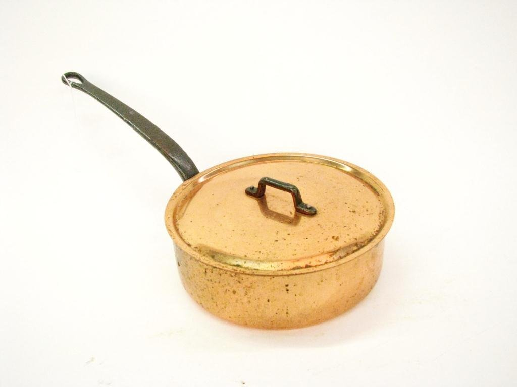 French Copper Lidded Skillet