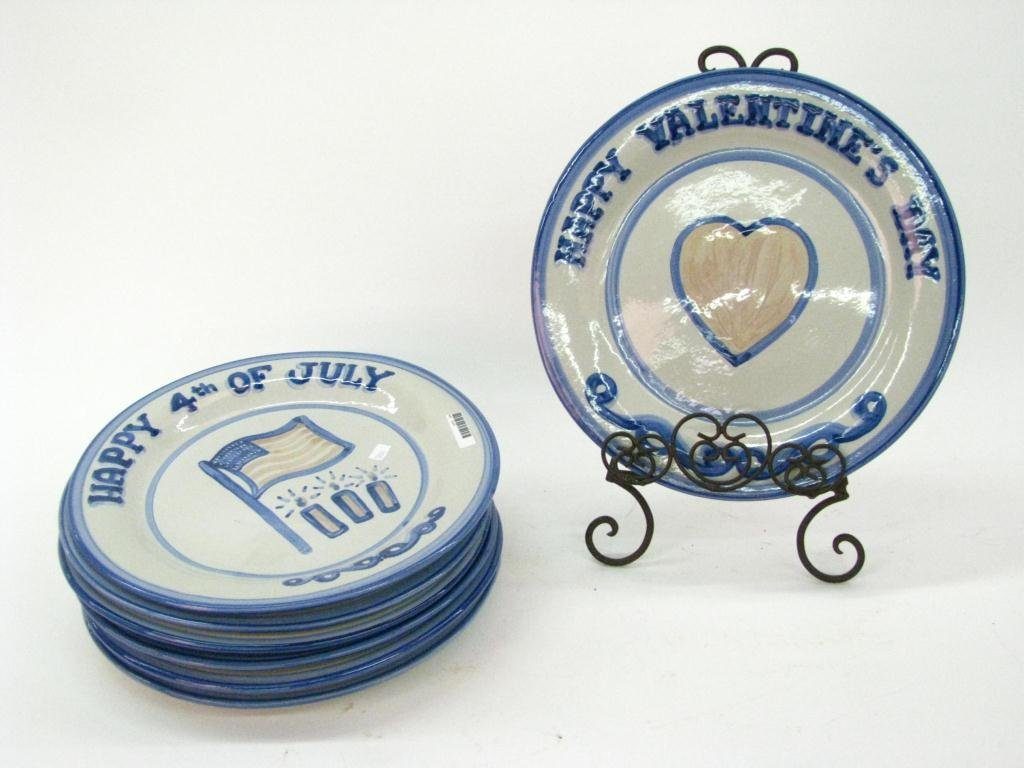 Set of Seven M.A. Hadley Holiday Plates