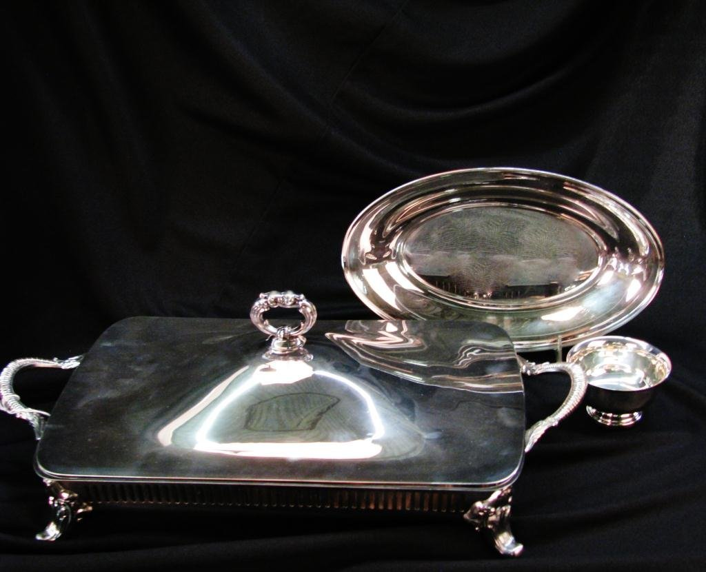 Group of three Silver Plate Serving Pieces