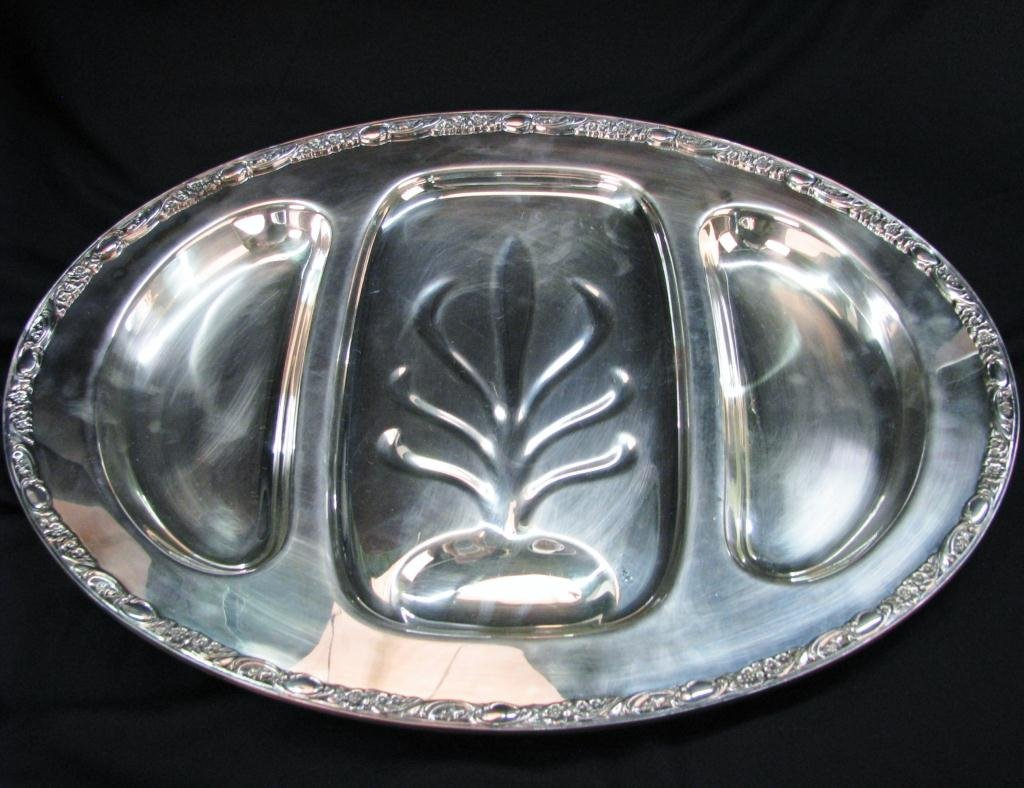 WM. Rogers & Son Silver Plated Meat Tray