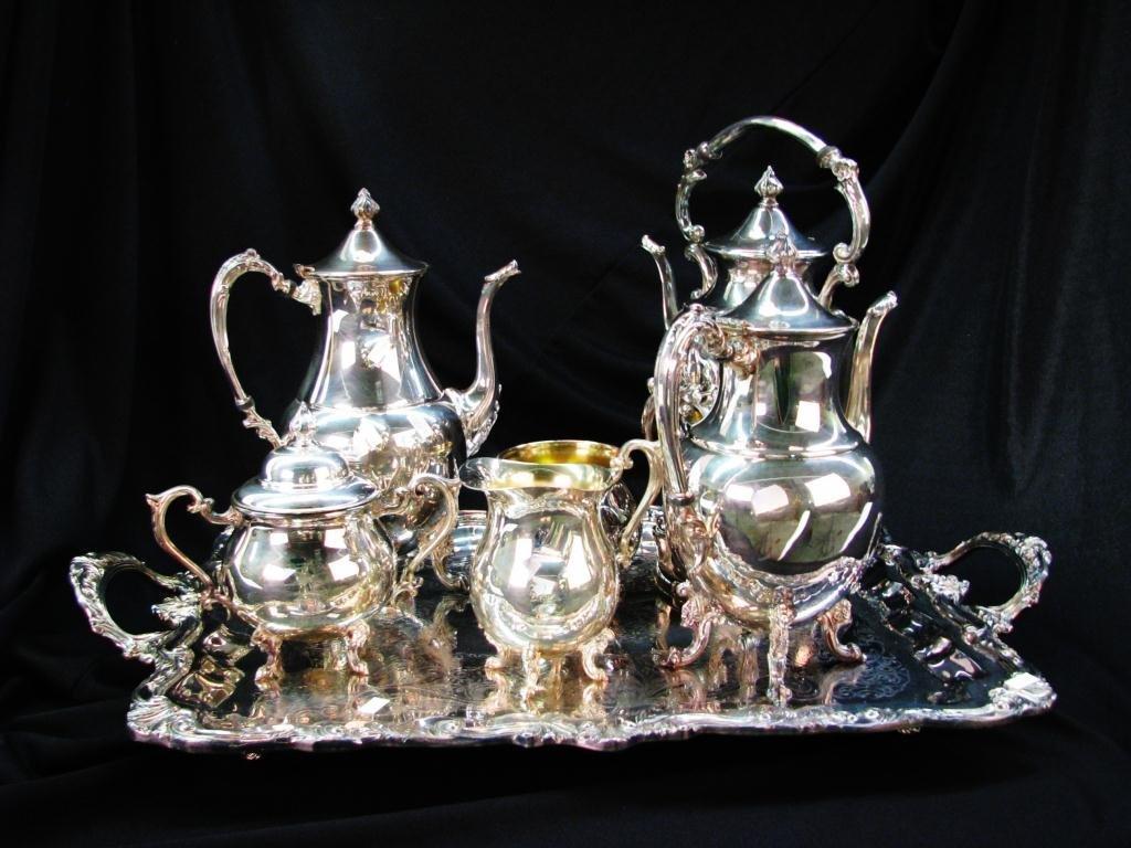 Sheridan Silver Plate Tea Set with Tray