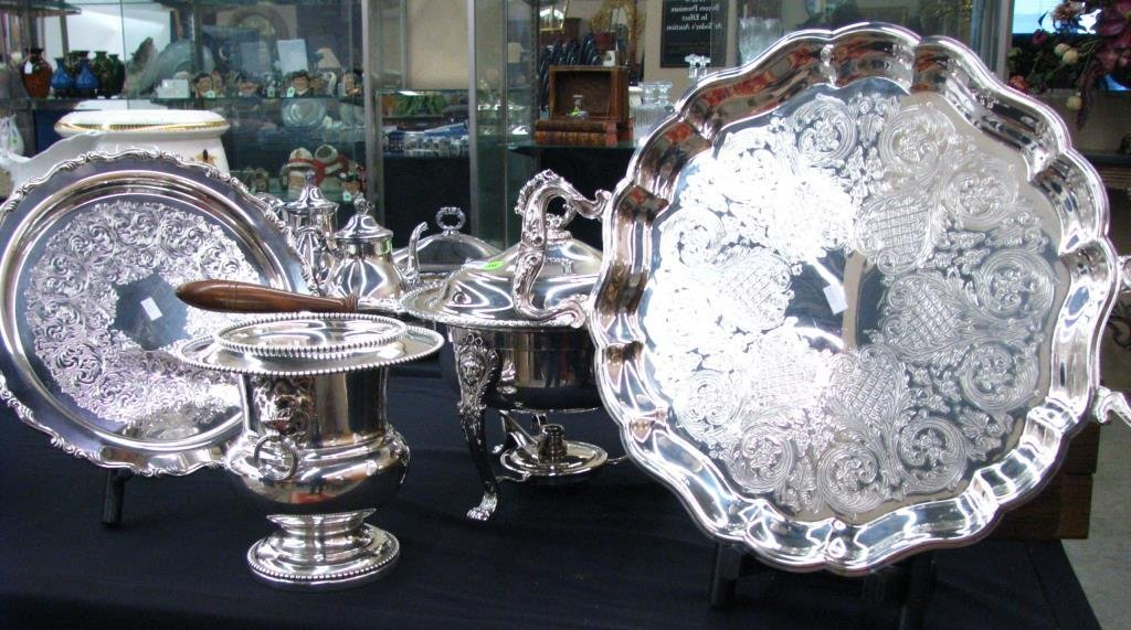 Group of Silver Plate Accessories
