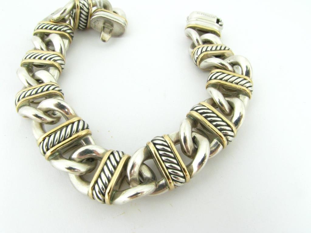 David Yurman Sterling/18K Yellow Gold Bracelet