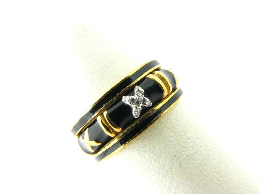 Hidalgo 18K Yellow Gold Stack Rings, Diamond