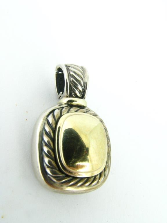 David Yurman Sterling/14K Yellow Gold Pendant