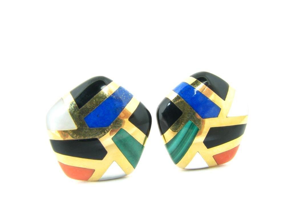 A Pair of Asch/Grossbardt 14K Yellow Gold Earrings