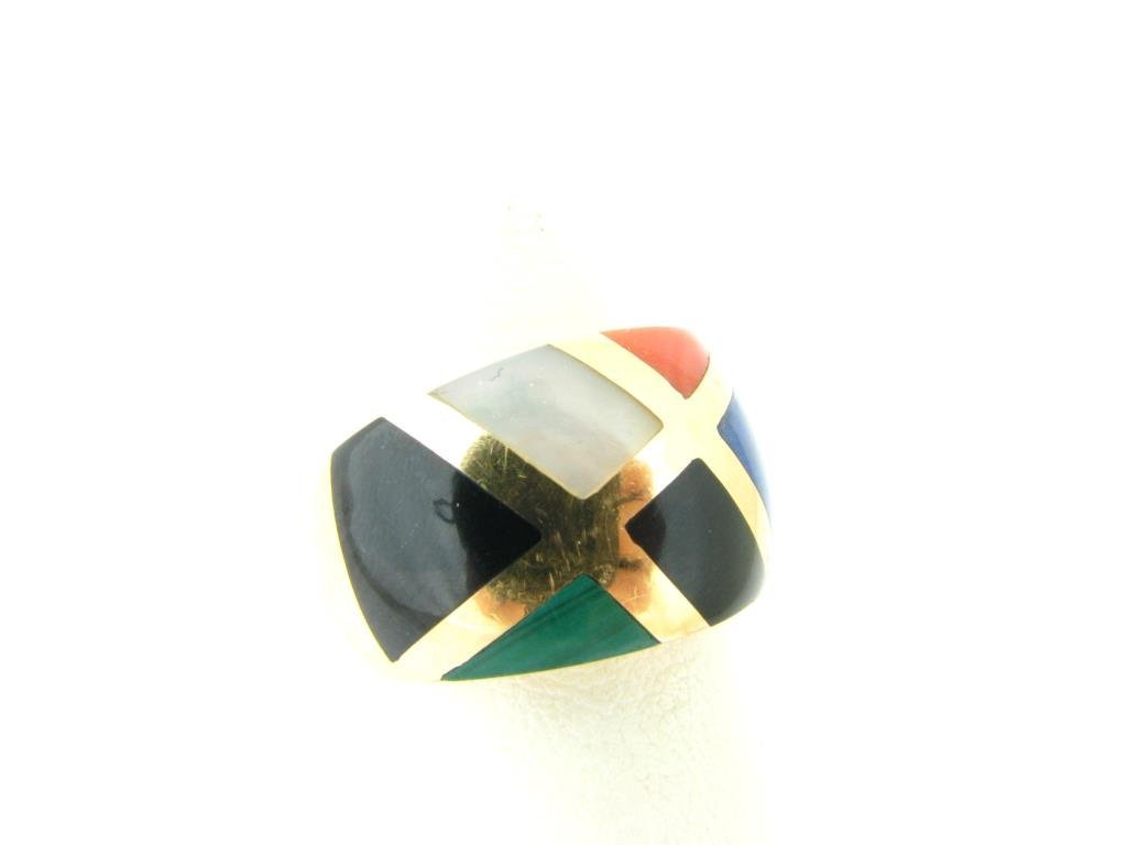 Asch/Grossbardt 14K Yellow Gold Inlaid Ring