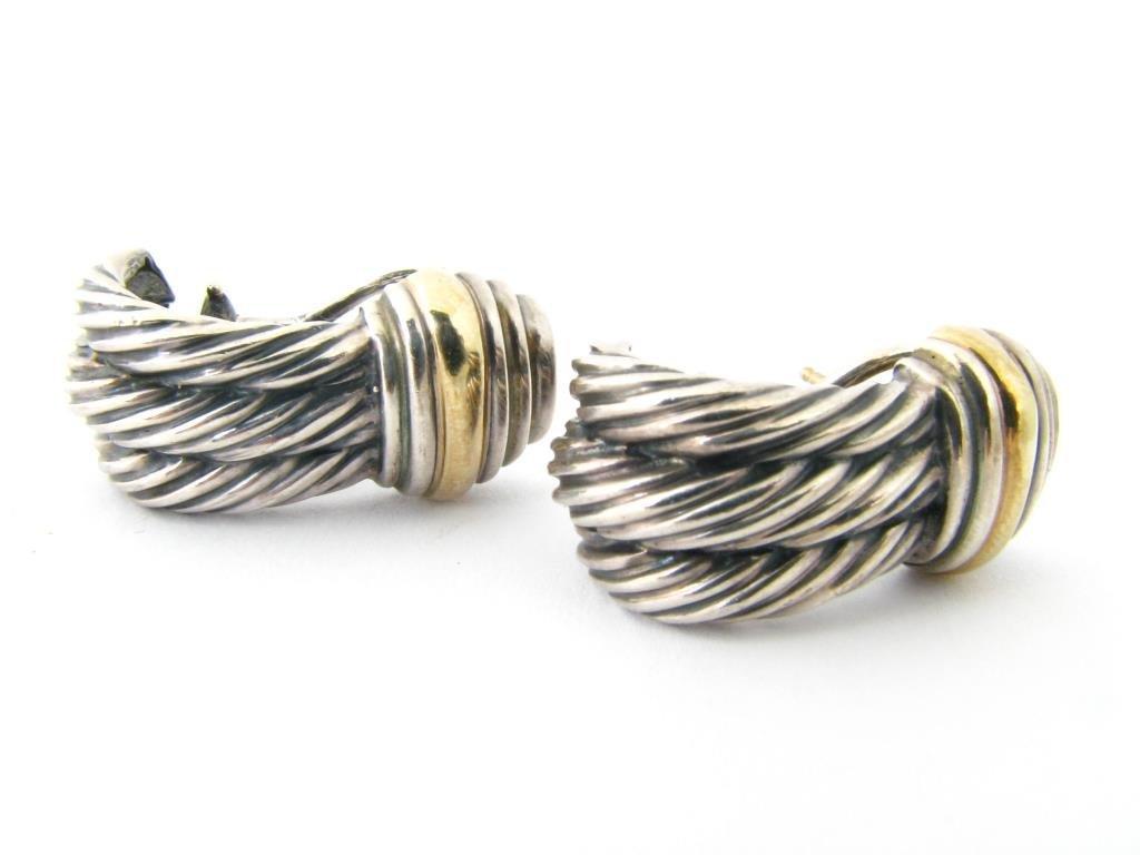 A Pair of Yurman Sterling/14K Earrings