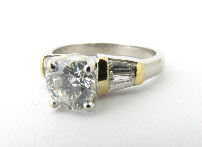 Platinum, 18K Yellow Gold Diamond Ring
