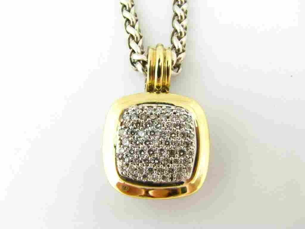 David Yurman Sterling/18K Pave Diamond Pendant
