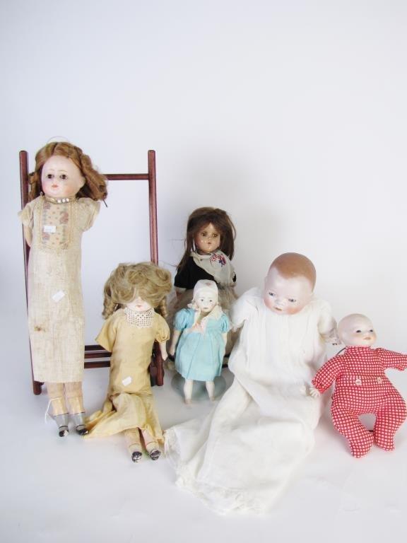 Group of Six Vintage Dolls