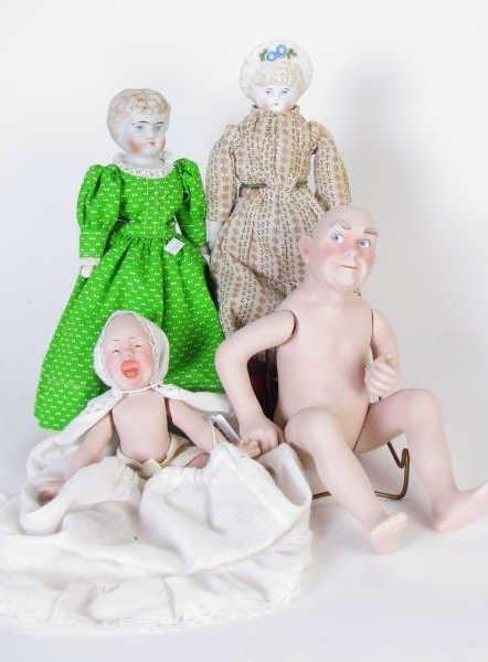 Group of Vintage Bisque Dolls