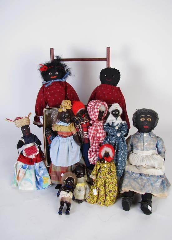 Group of Black Americana Dolls